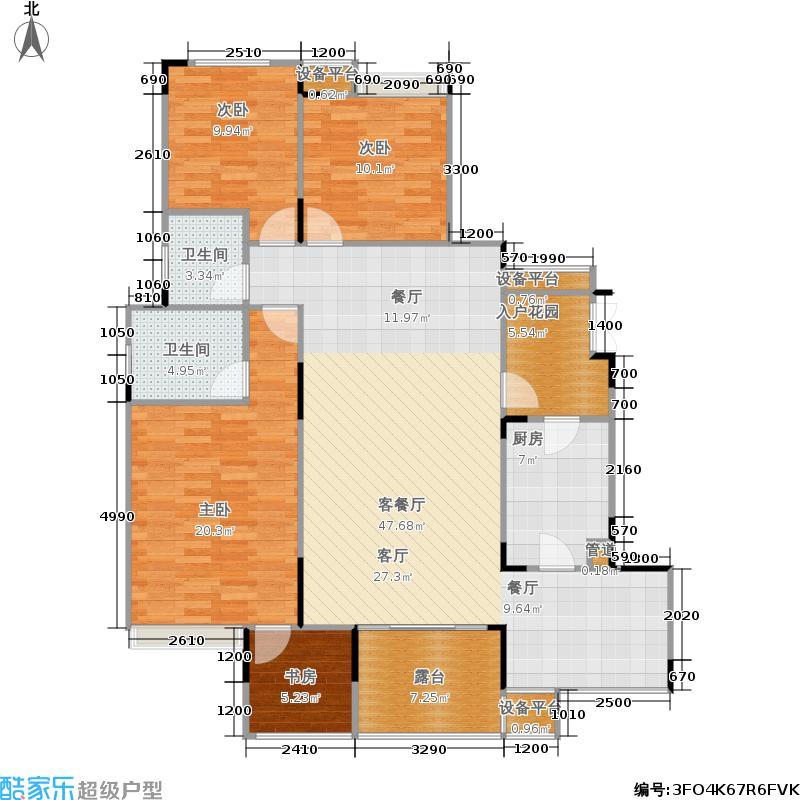 城南未来124.44㎡城南未来户型图C4室3厅2卫1厨124.44㎡(8/10张)户型10室