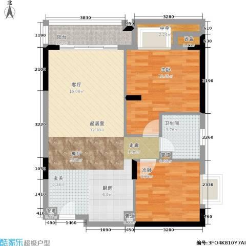 顺联新城花园2室0厅1卫0厨73.00㎡户型图