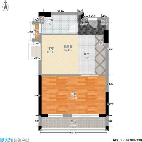 顺联新城花园1室0厅1卫0厨54.82㎡户型图