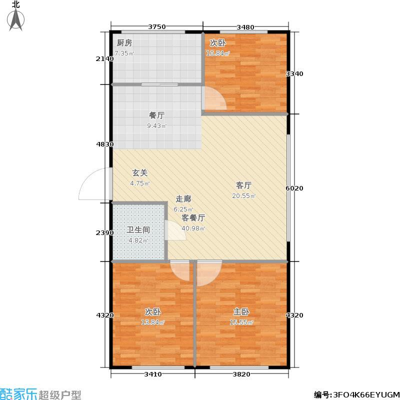 金海华府99.81㎡金海华府户型图2室2厅1卫(2/4张)户型10室