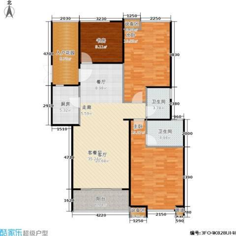 鼎泰花园3室1厅2卫1厨150.00㎡户型图