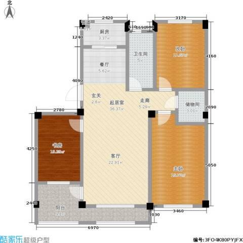 凤凰山花园3室0厅1卫1厨111.00㎡户型图