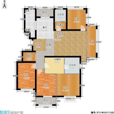 旭辉上河郡3室0厅2卫1厨155.00㎡户型图