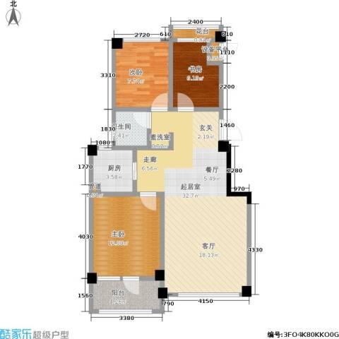 凤凰山花园3室0厅1卫1厨90.00㎡户型图