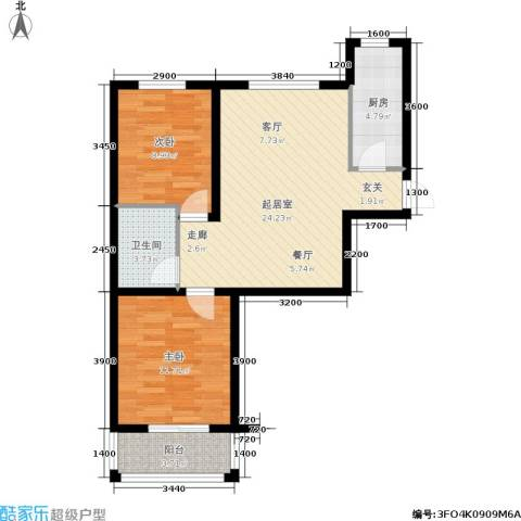 新徐印象2室0厅1卫1厨82.00㎡户型图