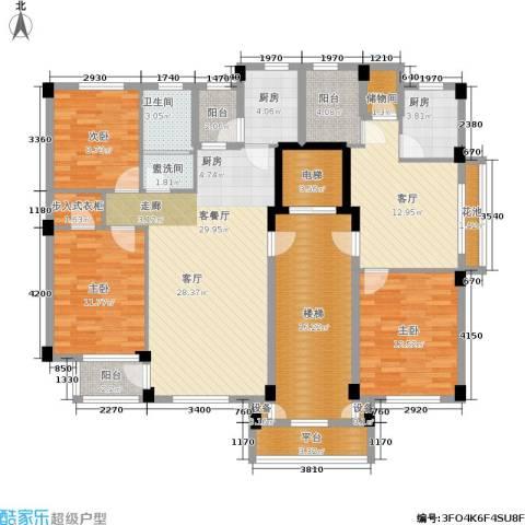 翠岛经典3室2厅1卫2厨182.00㎡户型图