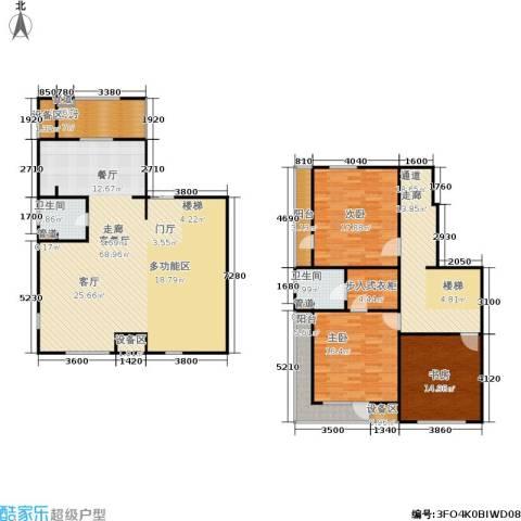 万科・深蓝3室1厅2卫1厨226.00㎡户型图