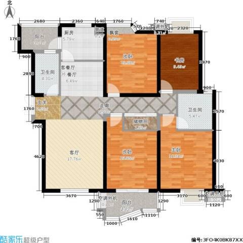 天元公寓4室1厅2卫1厨158.00㎡户型图