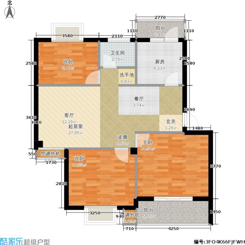 盛世又一村盛世又一村户型图三房(3/3张)户型10室