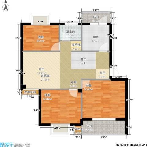 盛世又一村3室0厅1卫1厨113.00㎡户型图