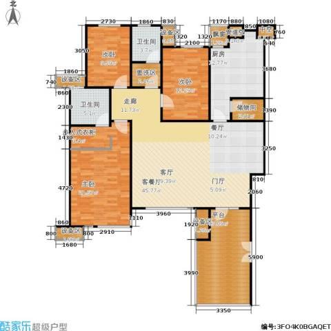 万科・深蓝3室1厅2卫1厨188.00㎡户型图