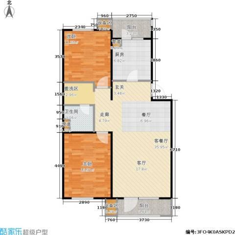 万科・深蓝2室1厅1卫1厨108.00㎡户型图
