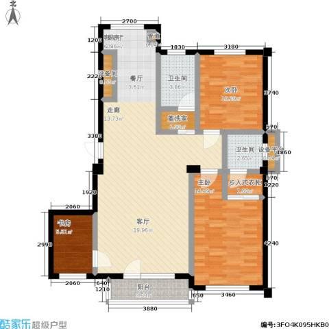 中瀛臻堡3室1厅2卫0厨99.38㎡户型图