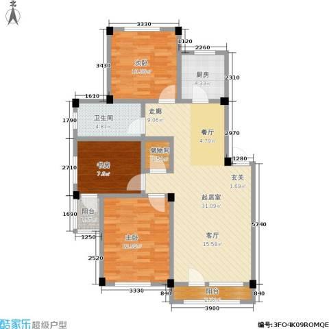凤凰山花园3室0厅1卫1厨99.00㎡户型图