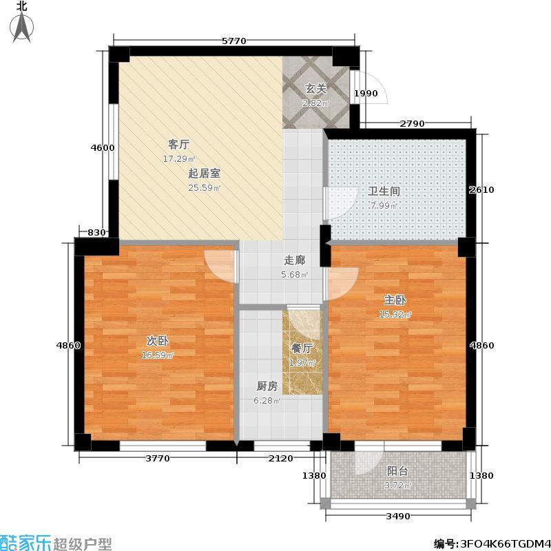 金连佳地84.20㎡金连佳地户型图2室2厅1卫(2/8张)户型10室