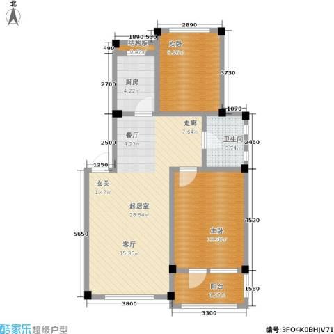 凤凰山花园2室0厅1卫1厨81.00㎡户型图