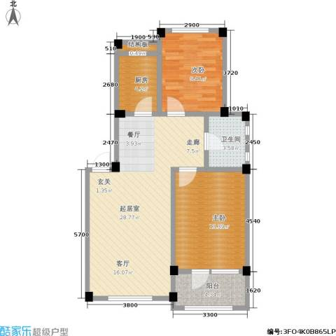 凤凰山花园2室0厅1卫1厨80.00㎡户型图