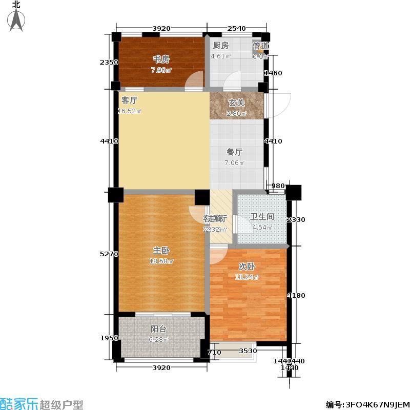 悦澜湾95.00㎡G7户型3室2厅1卫