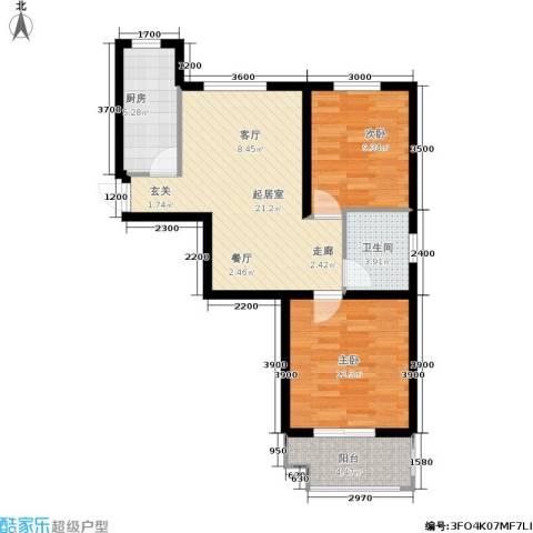 新徐印象2室0厅1卫1厨81.00㎡户型图
