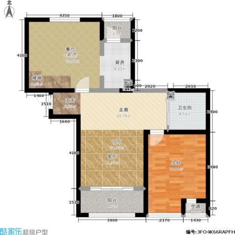 华邦俪城1室0厅1卫1厨81.63㎡户型图