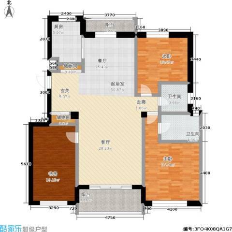 山海一家二期3室0厅2卫1厨154.00㎡户型图