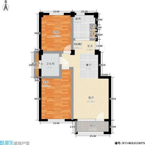 中瀛臻堡2室1厅1卫1厨78.18㎡户型图