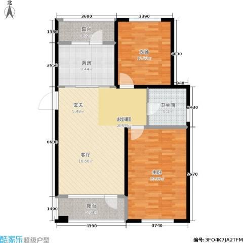 建荣皇家海岸2室0厅1卫1厨100.00㎡户型图