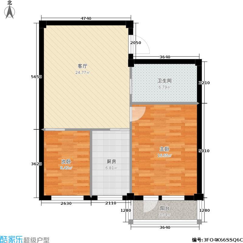 金连佳地74.80㎡金连佳地户型图2室2厅1卫(4/8张)户型10室