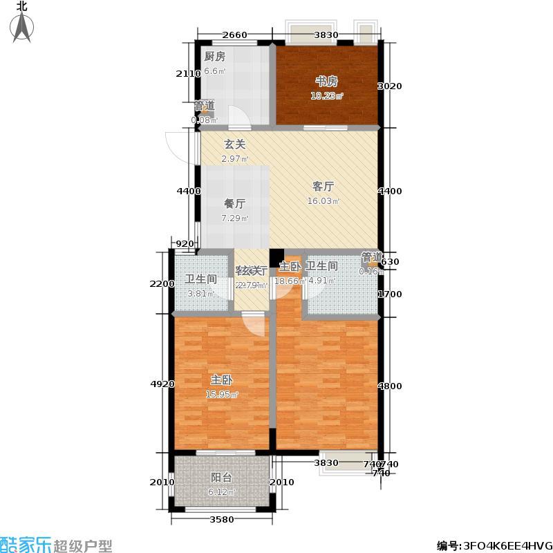 悦澜湾108.00㎡高层G4户型