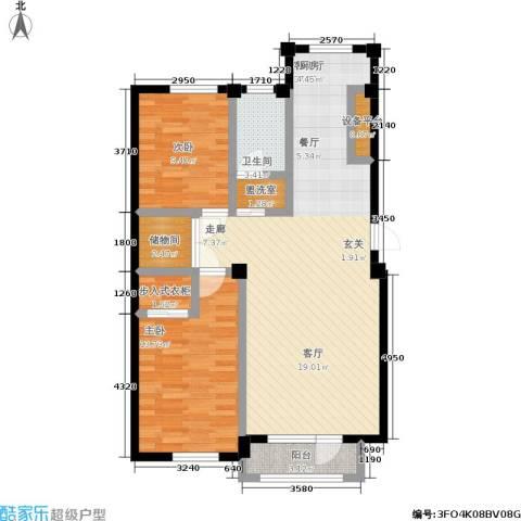 中瀛臻堡2室1厅1卫0厨86.87㎡户型图