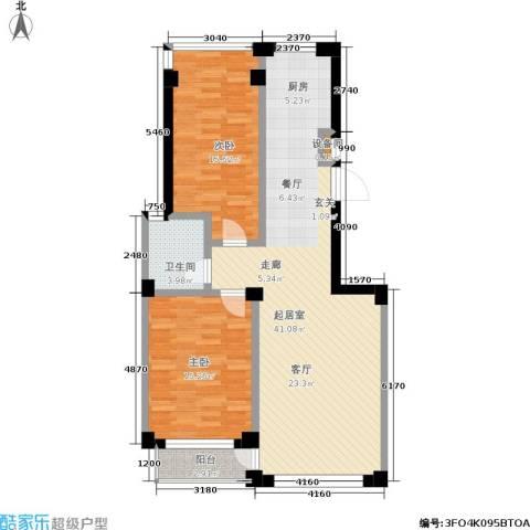 山海一家二期2室0厅1卫0厨111.00㎡户型图