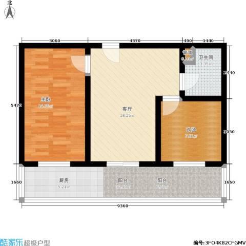 涧河花园2室1厅1卫0厨84.00㎡户型图