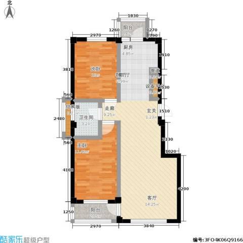 中瀛臻堡2室1厅1卫0厨74.25㎡户型图