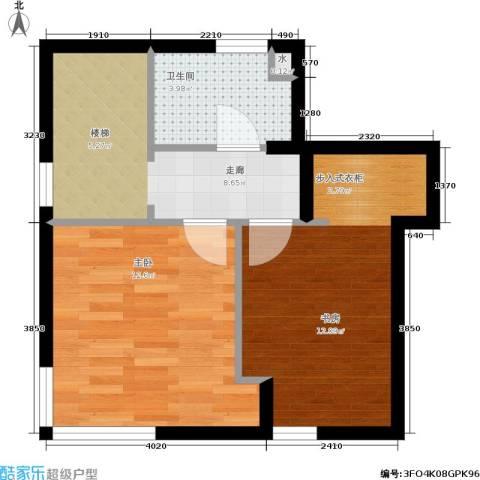 生辉第一城2室0厅1卫0厨43.00㎡户型图