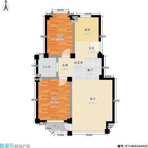 哈佛映像2室0厅1卫0厨72.99㎡户型图