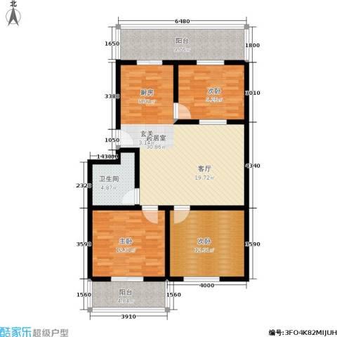 涧河花园3室0厅1卫0厨122.00㎡户型图