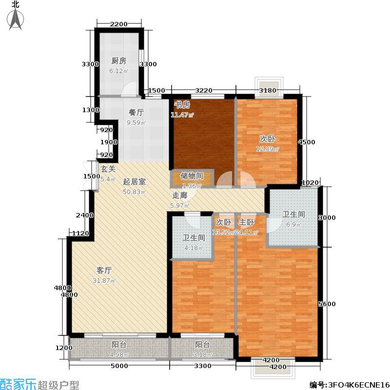 银丰花园179.00㎡银丰花园户型图四室两厅两卫(1/9张)户型4室2厅2卫