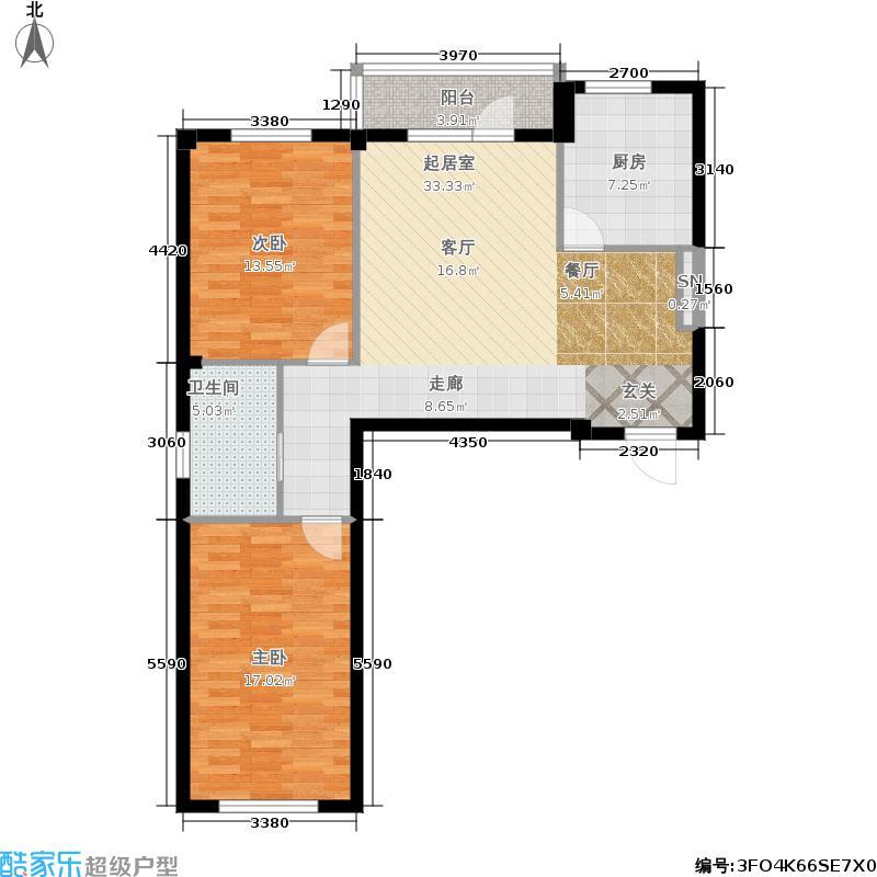 金连佳地90.00㎡金连佳地户型图2室2厅1卫(1/8张)户型10室