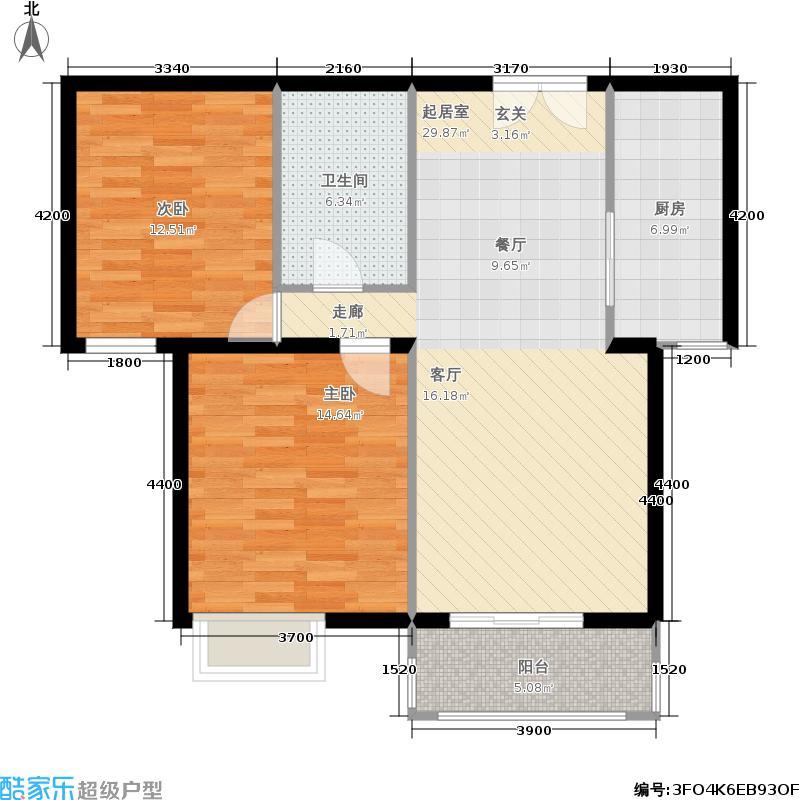 银丰花园银丰花园户型图两室两厅一卫(9/14张)户型2室2厅1卫