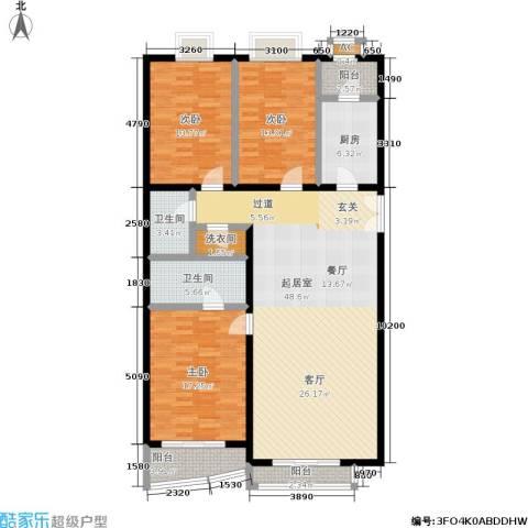 天天家园3室0厅2卫1厨171.00㎡户型图