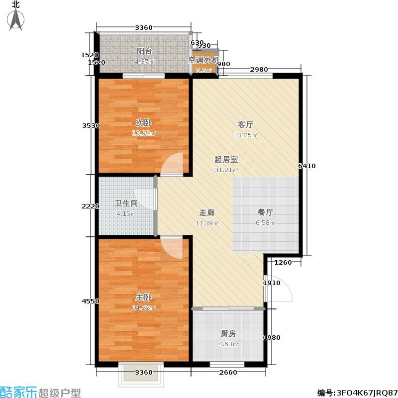 尚华北苑尚华北苑2室2厅1卫户型2室2厅1卫