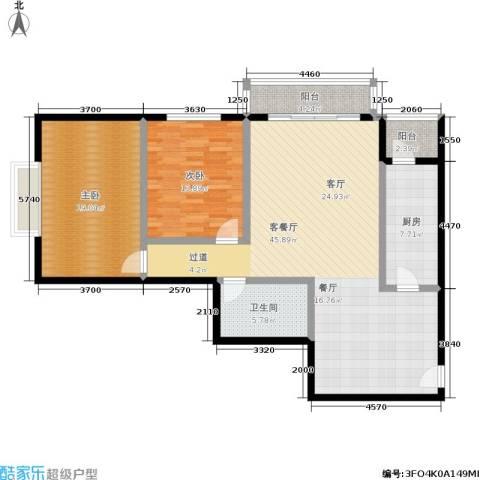 天天家园2室1厅1卫1厨113.00㎡户型图