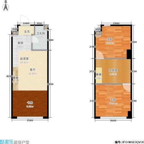 万德悦城2室0厅1卫0厨59.73㎡户型图