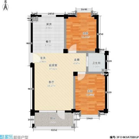 哈佛映像2室0厅1卫0厨77.27㎡户型图