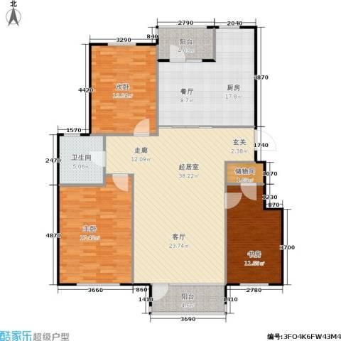 汇益华庭3室0厅1卫1厨152.00㎡户型图