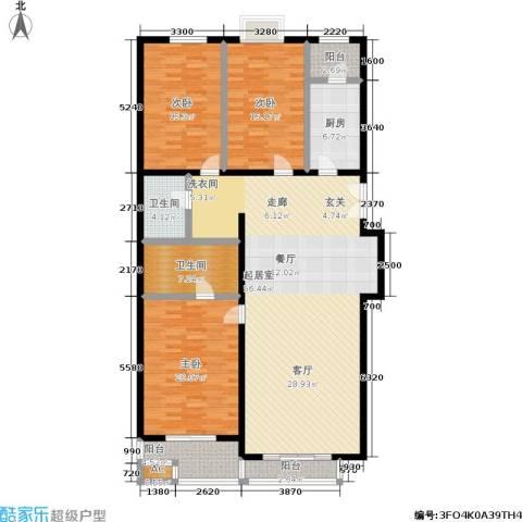 天天家园3室0厅2卫1厨154.00㎡户型图