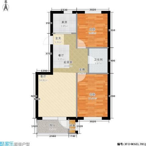 嘉恒国际2室0厅1卫1厨80.00㎡户型图
