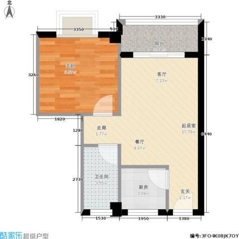 威斯广场1室0厅1卫1厨43.00㎡户型图