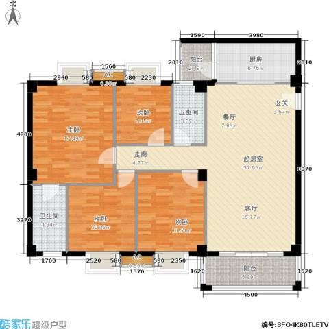 威斯广场4室0厅2卫1厨123.00㎡户型图