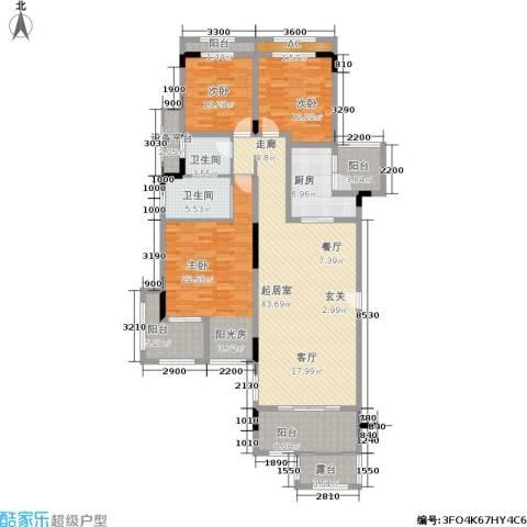 金科天湖小镇3室0厅2卫1厨141.00㎡户型图
